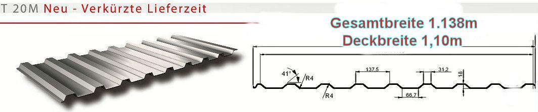 Hervorragend Trapezblech Profil 20mm- 2. Wahl Sonderposten 2 Farben | HPM Shop RB92