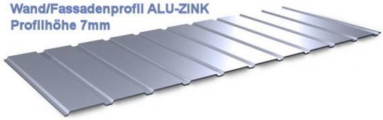 Trapezblech Wandblech ALU-ZINK 7mm-0.5mm