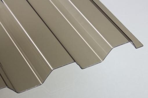 Lichtplatte PVC Trapezprofil 70/18 bronze 1,4mm
