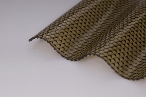 Lichtplatte Acryl 3mm Wellprofil 76/18 Wabe bronze