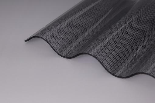 Lichtplatte Acryl 2,5mm Wellprofil 76/18 Perl graphit