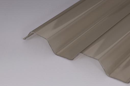 Hagelsichere ONDEX® Lichtplatten Trapez 70/18 bronze