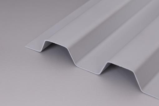 Hagelfeste SOLLUX Lichtplatten Trapez 70/18 grau-opak
