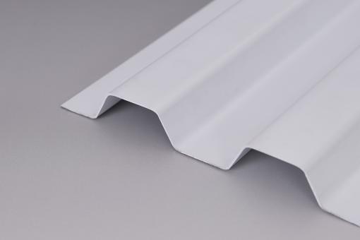 Hagelfeste SOLLUX Lichtplatten Trapez 70/18 weiß-opak