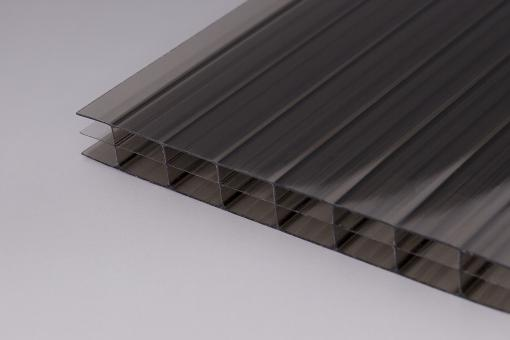 Stegplatten 16mm Polycarbonat  bronze