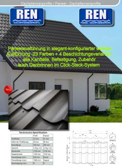 Dachpfannenblech Paneel Poly Typ REN neue Optik