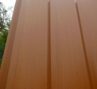 Trapezblech Wand Fassadenverkleidung Holz 7mm-0.5mm