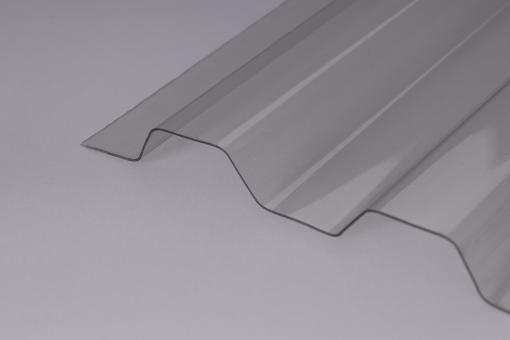 Lichtplatte PVC 1.2 Stand.Trapez 70/18 glashell