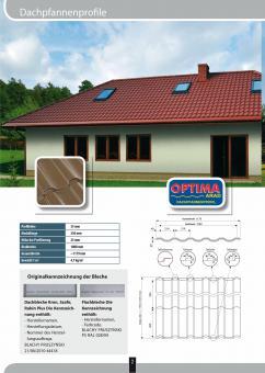 Dachpfannenblech Profil OPTIMA Poly-24 Farben