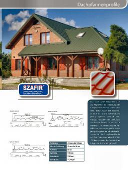 Dachpfannenblech Profil SZAFIR 13 Farben Sonderpreis