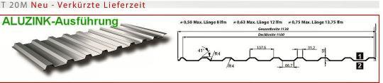 Trapezblech Alu-Zink Profil 20/0.5-Sonderpreis