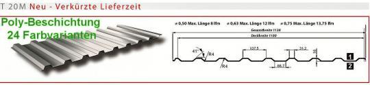 Trapezblech Profil T20M 0.5 Sonderpreis