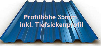 Trapezblech x-tra stark 0.75mm+35mmDR-Profil-Sonderpreis