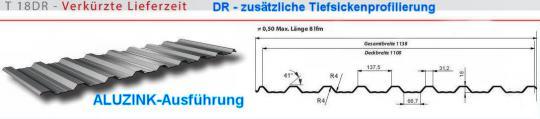 Trapezblech Alu-Zink x-tra stark 0.75+Profil DR 18mm