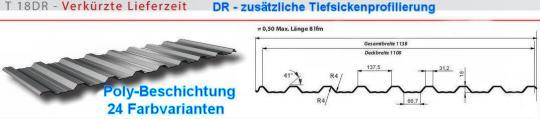 Trapezblech 23 Farben Profil 18DR/0.5-Sonderpreis