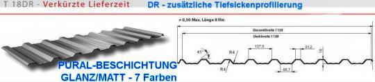 Trapezblech TOP-BESCHICHTUNG Profil 18DR/0.5-SoPreis