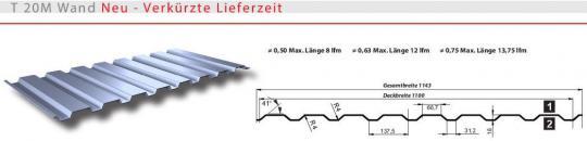 Trapezblech Wand Fassadenverkleidung 20mm-0.5mm