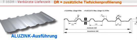 Trapezblech Alu-Zink Profil 35DR/0.5-Sonderpreis