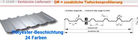 Trapezblech 21 Farben Profil 35DR/0.5-Sonderpreis