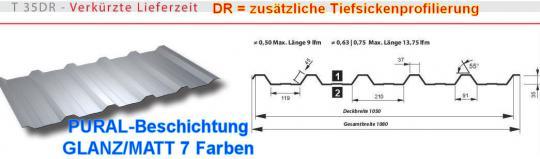 Trapezblech TOP-BESCHICHTUNG Profil 20/0.5
