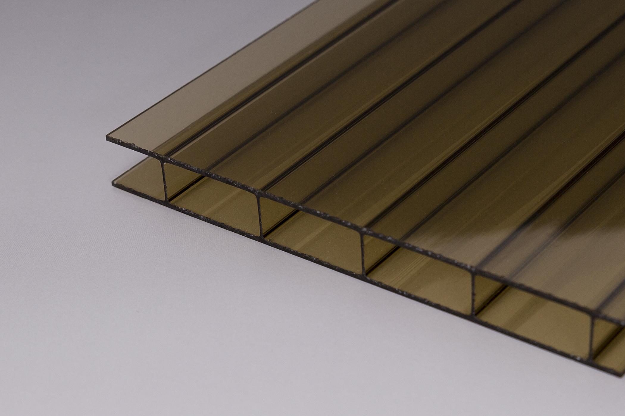 Stegplatten Doppelstegplatten Hohlkammerplatten Acrylglas bronce braun 16//32 mm