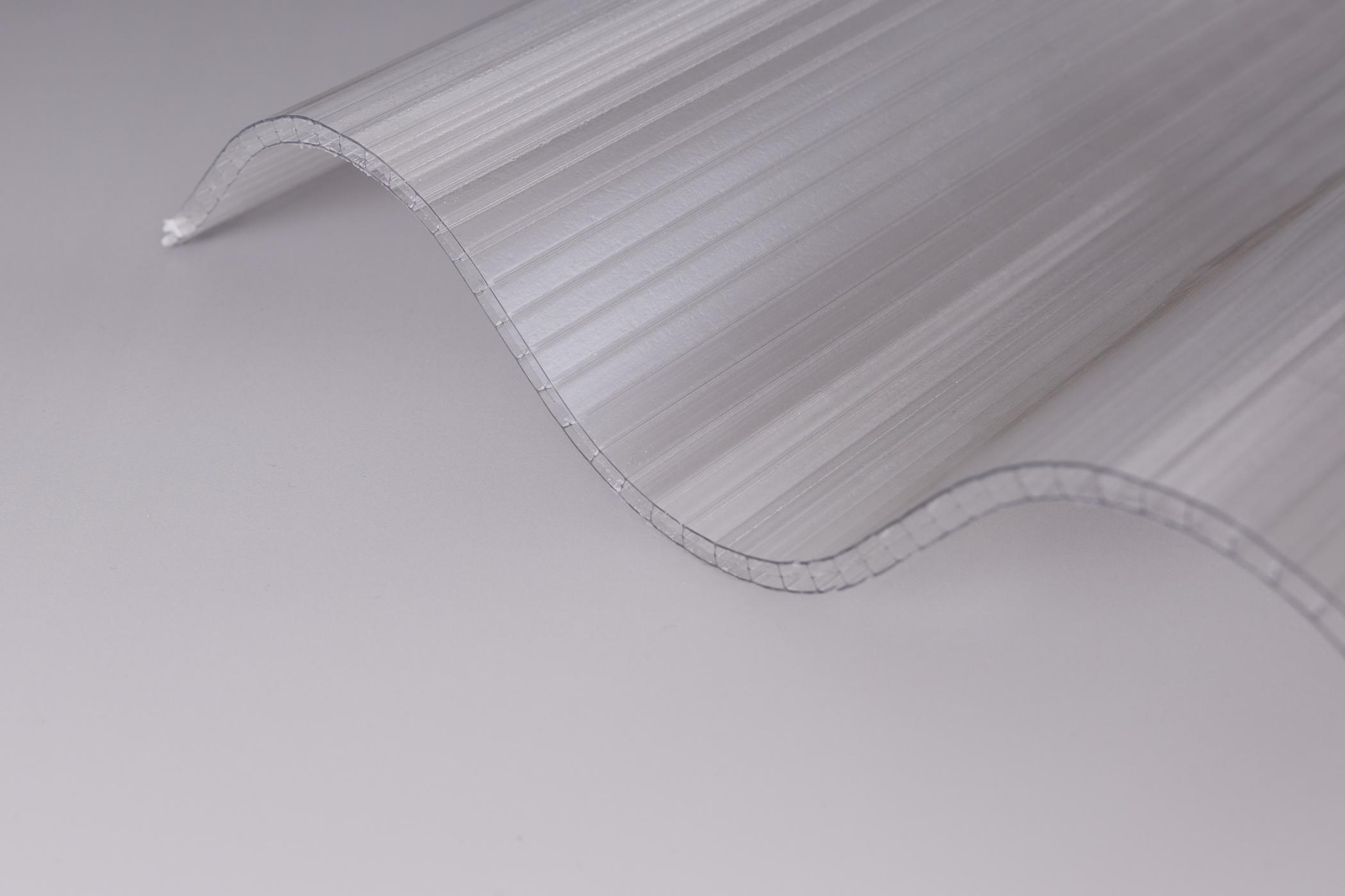 lichtplatte hohlkammer wellplatte 177 51 p5 klar in 6 mm polycarbonat qualit t hpm shop. Black Bedroom Furniture Sets. Home Design Ideas