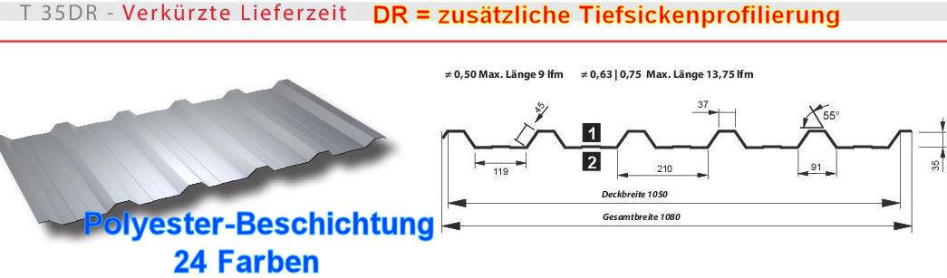 Top Trapezbleche höheres Profil 35mm-mehr Stabilität SoPreis 1.-Wahl KF97