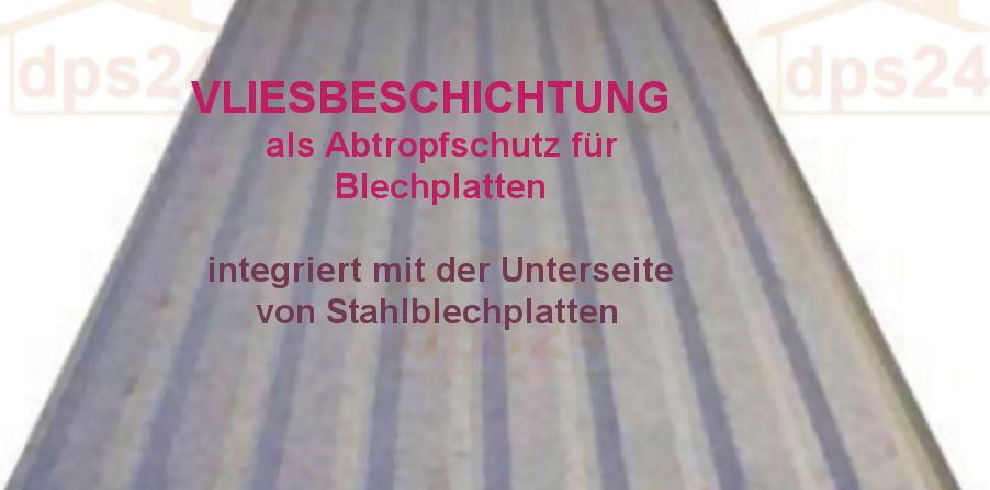 trapezblech abtropfschutz mit starkem vliesauftrag im hohen profil 45mm 23 farben. Black Bedroom Furniture Sets. Home Design Ideas