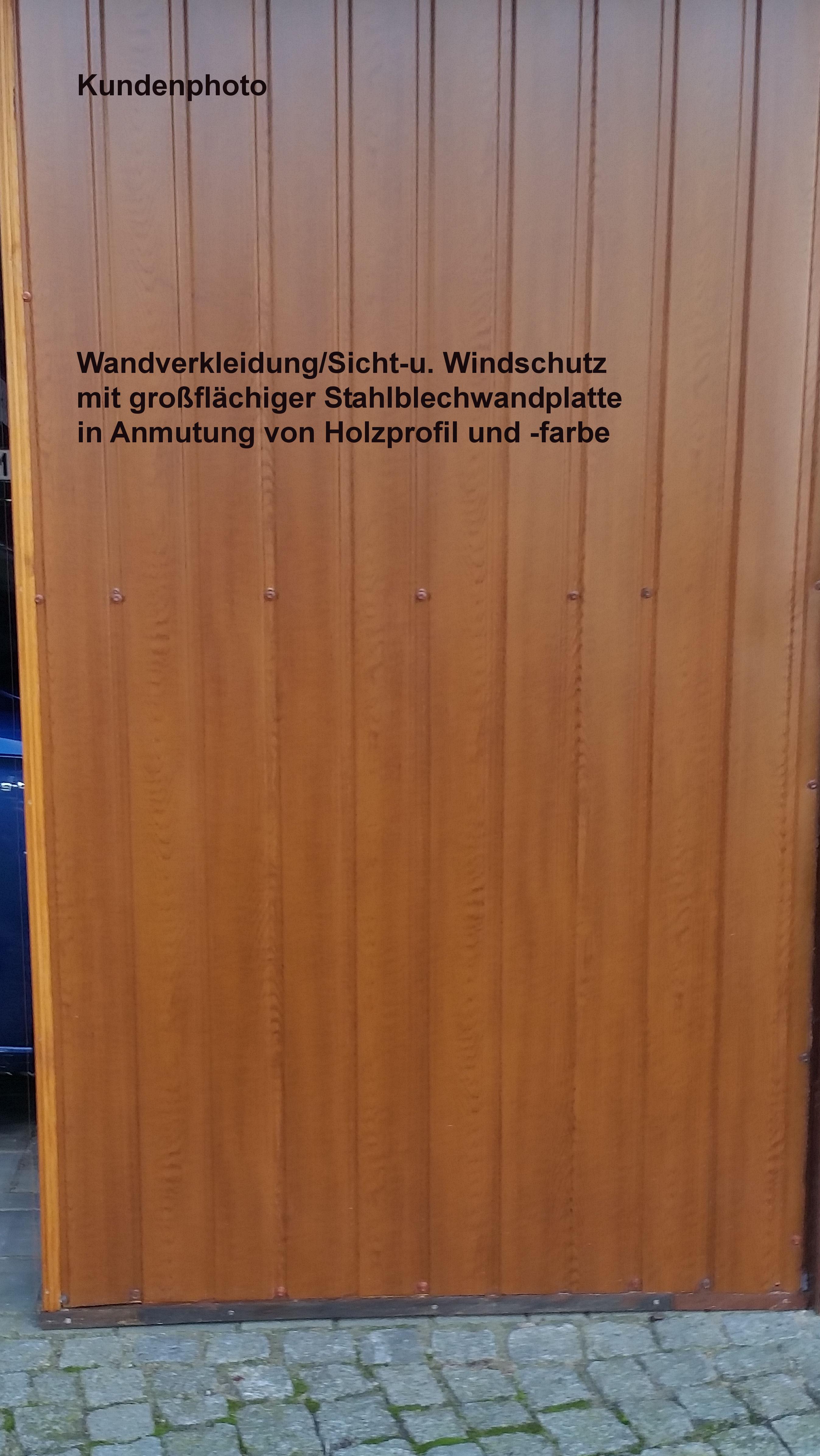 Wandverkleidung Trapezblech 8mm Holzdekor Rauhspundanmutung Hpm Shop