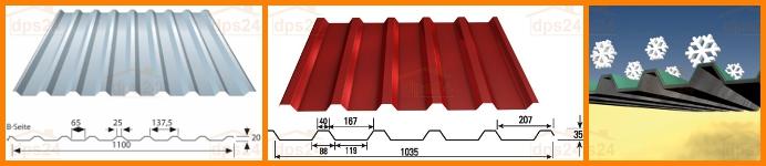 blechplatten ideal f r carportd cher hpm shop. Black Bedroom Furniture Sets. Home Design Ideas