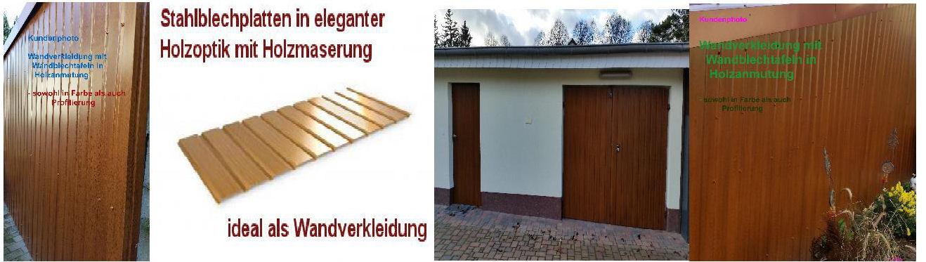 Fassadenverkleidung Stahlblech HOLZANMUTUNG